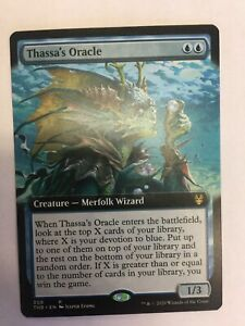 MTG-Theros-Beyond-Death-Thassa-s-Oracle-Extended-Art-NM