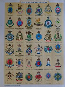 1919-PRINT-CRESTS-OF-THE-BRITISH-ARMY-ROYAL-IRISH-LANCERS-DRAGOONS-HUSSARS-GUARD