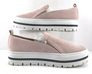 bac8a044c82 Halogen by Nordstrom Teagen Pink Suede Slip On Loafers Womens Size ...