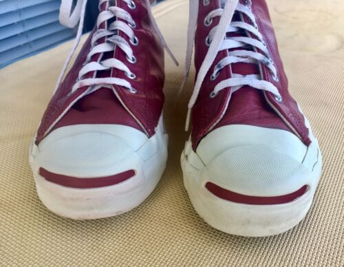 Vintage Converse Jack Purcell Red Leather USA Made