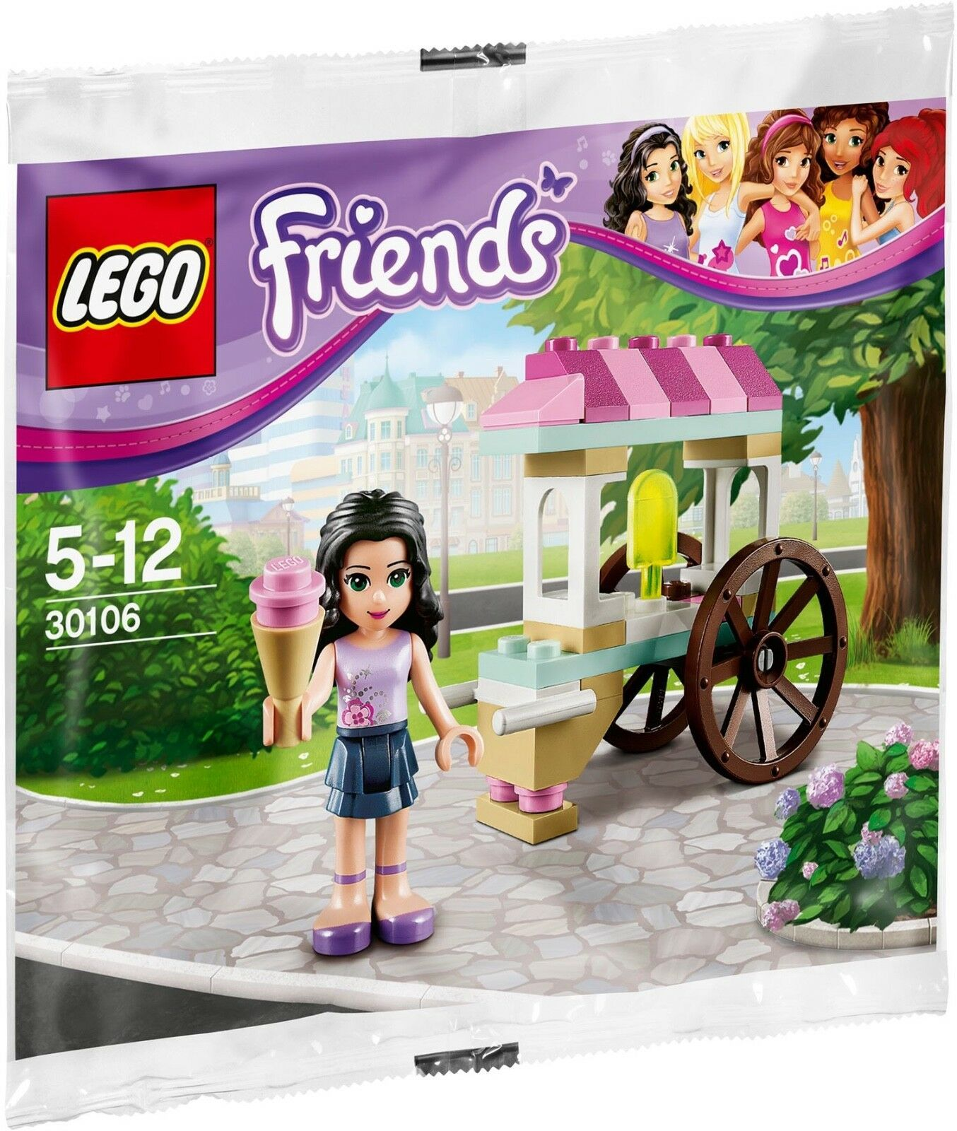 NEW 10 SETS Lego LEGO Friends ICE CREAM STAND 30106 EMMA Polybag PARTY FAVOR