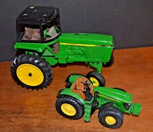 Metal Toy Tractors >> Details About 2 Ertl John Deere Diecast Metal Toy Tractors 7920 4450