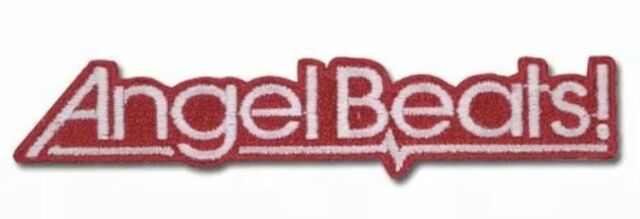 "ANGEL BEATS Logo Patch 3"" x 2"" License by GE Animation Anime Patches Cosplay New"