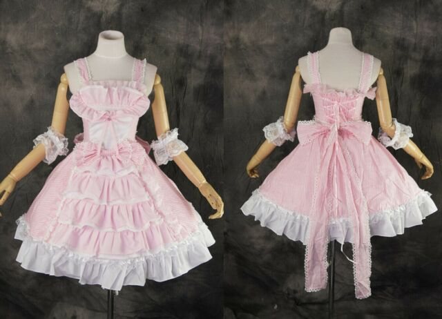 M-3144 S/M/L/XL/XXL rosa pink Gothic Classic Lolita Cosplay costume Kleid dress
