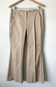 THE-LIMITED-FIT-amp-FLARE-DREW-FIT-BEIGE-DRESS-PANTS-WITH-TUXEDO-SEQUIN-SIZE-6