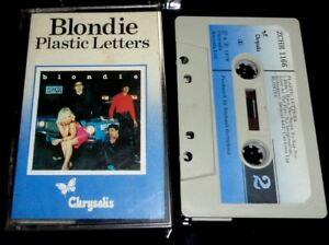 BLONDIE-Plastic-Letters-1978-UK-CASSETTE-ALBUM-Chrysalis-ZCHR-1166-new-wave-pop