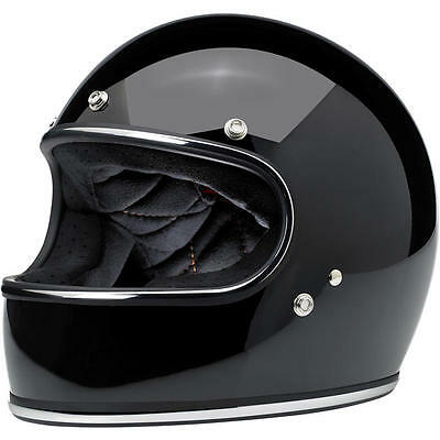 Biltwell Inc Gringo Gloss Black Full Face Powersports Motorcycle Helmet