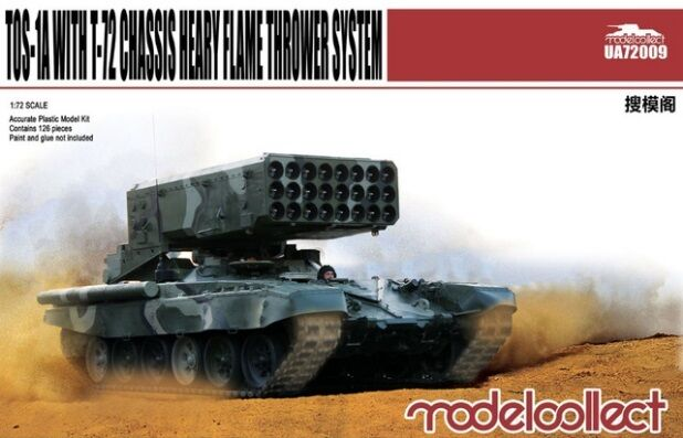 Modelcollect UA72009, TOS-1A with T-72 Chassis Heavy Flame Thrower System, 1:72