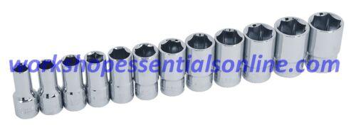 """3//8/""""drive Socket Set 8-19mm Semi Deep 12 Piece Trident T120100 Free P/&P"""