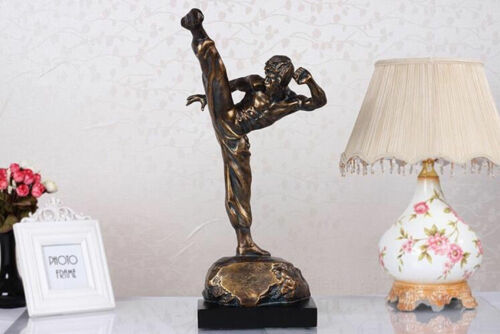 "Charm Eternal Kong Fu Bruce Lee Sculpture Decoration Art Statue Figures 19.5/""H"