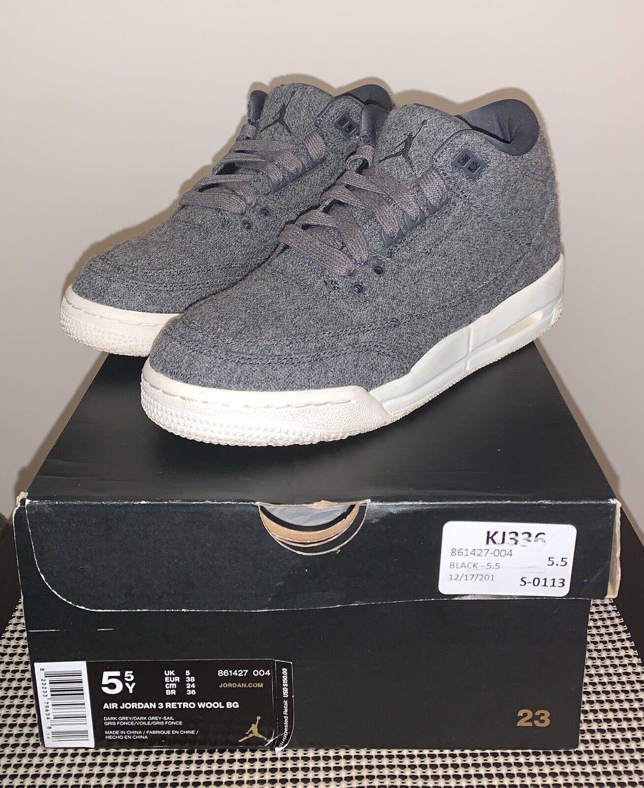 jordan 3 wool grey