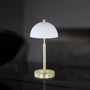 Wofi-Lampe-de-table-Georgia-3-feuilles-laiton-VARIATEUR-verre-blanc-nuit