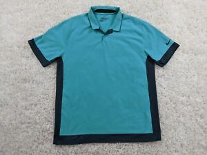 NIKE-Golf-Tour-Performance-Polo-Shirt-Mens-Large-Green-Black-Swoosh-Dri-Fit