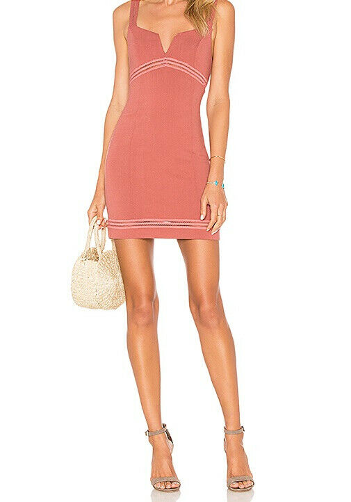 Free People Womens Simply Be OB776348 Dress Bodycon Sandstone Pink Size XS
