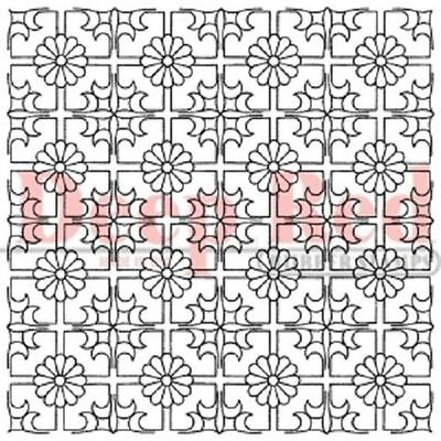 Deep Red Rubber Cling Stamp Chinese Lattice Background Ceiling Tiles