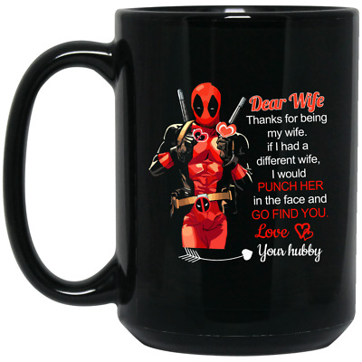 Deadpool Chibi I Licked It So It/'s Mine Coffee Mug Tea Cup Gift