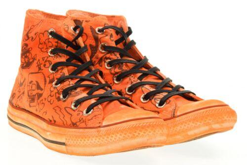P17 Unisex Alte Scarpe Print Shark Converse 156895c Orange Sneakers gHwC5q8x
