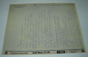 Microfich-Ersatzteilkatalog-VW-Golf-I-1-Typ-17-Modelljahr-1977-1978