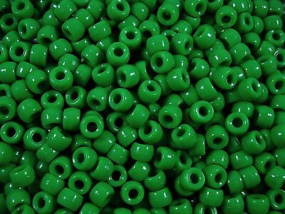 Pony Beads 9x6mm Green 100pc Kids Hair Toy Jewellery Party Fun FREE POSTAGE