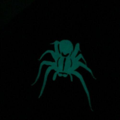 SPIDER *GLOW-N-DARK* Black Welding Hat Hats Cap Biker Hood Helmet Tarantula