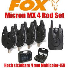 Fox Micron MX 4 Rod Set Bissanzeiger 4 er Set Karpfenangeln NEW OVP