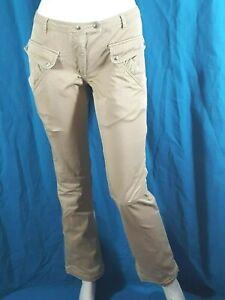 ATHE-VANESSA-BRUNO-Taille-36-Superbe-pantalon-jeans-jean-denim-beige-femme