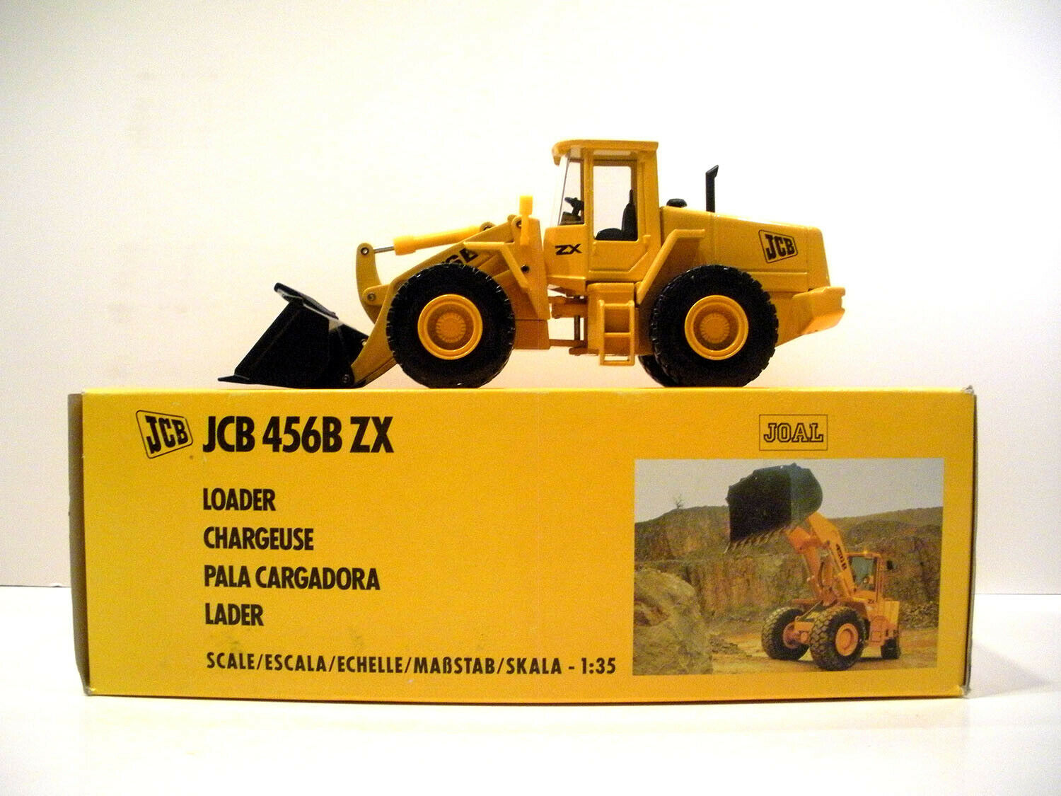 Joal 260 JCB 456 BZX Wheel Loader 1 35 Die-cast MIB