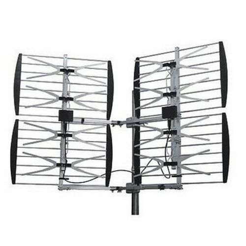 2-PACK STELLAR LABS 30-2431 UHF//HDTV 80 Mile Deep Fringe Bowtie TV Antenna