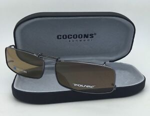 4e99fff67a7 Image is loading COCOONS-Brown-Polarized-Sunglasses-Eyeglasses-Over-Rx-Clip-