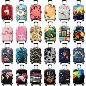 Printed-Travel-Suitcase-Protective-Cover-Luggage-Protector-Elastic-Dust-proof