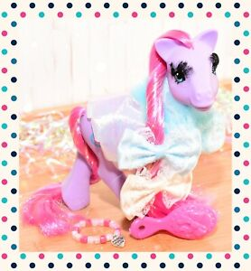 ❤️My Little Pony MLP G1 Vintage 1991 Eyelash Princess Royal Purple with Cape❤️