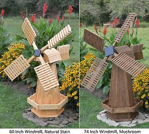 Image Is Loading Amish Made Wooden Dutch Windmill Yard Decoration Available
