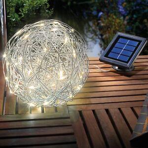 2x LED Solarkugel Solar Solarlampe Leuchtkugel Garten Lampe Leuchte ...