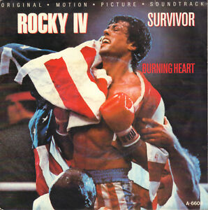 SURVIVOR-Burning-Heart-ROCKY-IV-1985-VINYL-SINGLE-7-034-HOLLAND