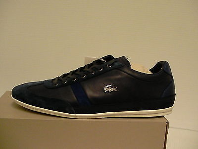 b4bebd994d1379 Lacoste mens shoes Misano 33 spm dark blue leather suede dressing size 11 us