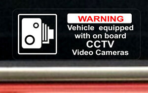 2-REVERSE-Warning-Stickers-CCTV-Video-Camera-Recording-Car-Vehicle-Sign-Safety