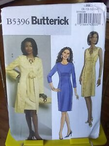Oop-Butterick-5396-misses-fitted-dress-overcoat-princess-seams-sz-8-14-NEW