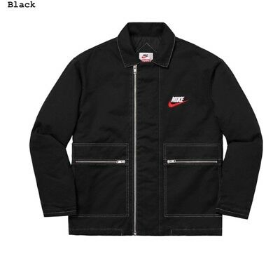Supreme x Nike Double Zip Quilted Work Jacket New Black (size M) | eBay