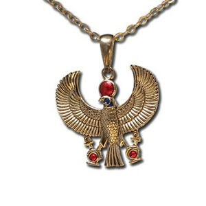 EGYPTIAN-GOD-HORUS-FALCON-ANKH-NECKLACE-PENDANT-TOP-PREMIUM-JEWELRY-GIFT-J213