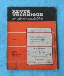 Amical Revue Technique Opel Kapitan A Opel Admiral Année 1967 Couleurs Harmonieuses