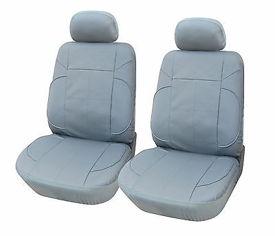 Leather Like 2 Front Car Seat Covers for BMW 153 Gray