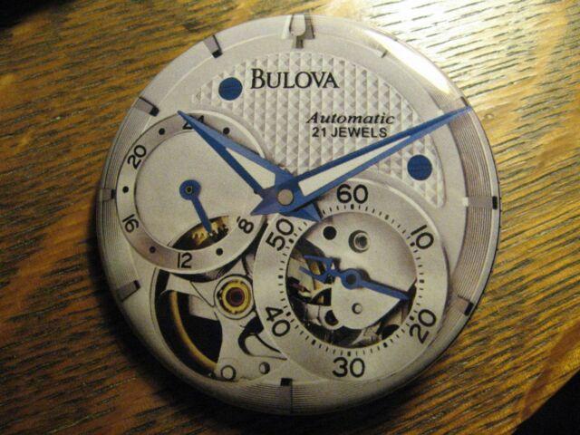Bulova Automatic 21 Jewels Multi Dial Watch Advertisement Pocket Lipstick Mirror