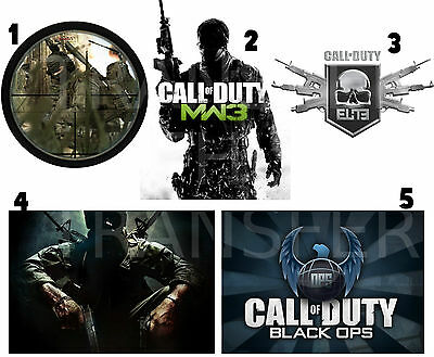 CALL OF DUTY LOT IRON ON T-SHIRT FABRIC TRANSFER MW3 BLACK OPS 2