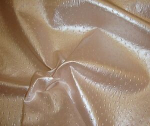 Vinyl Faux Fake Leather Blush Metallic Ostrich Upholstery Fabric 55