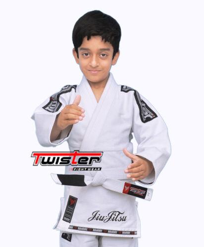 Jiu Jitsu Kids Pearl Weave BJJ Gi Ultra Light youth Gi   White Belt Included