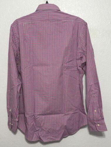Polo Ralph Lauren Mens Pink//Green Plaid Button Down Non-Iron Poplin Size S M XL