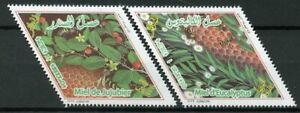 Algerie-2018-neuf-sans-charniere-Miel-Jujube-Eucalyptus-2-V-Set-Abeilles-Insectes-Plantes-timbres