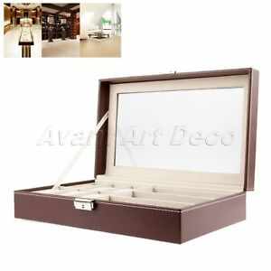 9795fee9a04 Sunglasses 3 Grids Eyeglass Display Box 6 Slots Watches Box Case ...