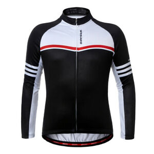 Maillot-Cyclisme-Manches-Longues-Respirant-Sechage-Rapide-Costumes-pour-Velo