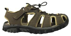 X-hiking-Men-039-s-Brown-Toggle-Adjustable-Fisherman-Style-Closed-Toe-Sandals-New